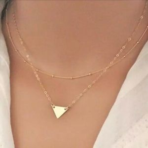 ♡♡Layered Necklace Geo Triangle Necklace 3 for $16